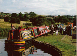 Narrowboat party group